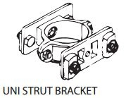 Unistrut Double Bracket Clamp for 60mmOD wholesale road sign bracket